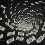 Black hole dollars Stock Images