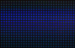 Black hole grid with blue backlight. Black hole grid with many small square holes and blue backlight Royalty Free Stock Photography