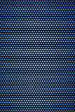 Black hole grid with light blue holes. Black hole grid with many small round holes in light blue Royalty Free Stock Images