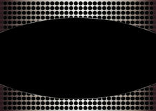 Black hole in grunge metal. Uneven diffuse lighting version. Design component Stock Illustration