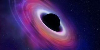 Black hole illustration Royalty Free Stock Photo