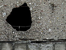 Black Hole In A Wall Stock Photo