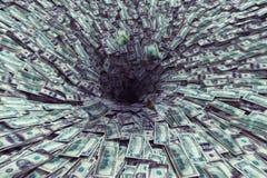 Black hole money Royalty Free Stock Images