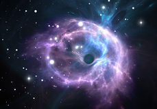 Black hole in the nebula Stock Images