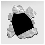 black hole paper Στοκ Φωτογραφία