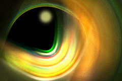 Black hole with planet Stock Image