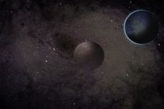Black hole and planets Stock Photography