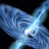 Black Hole Radiation Stock Photo