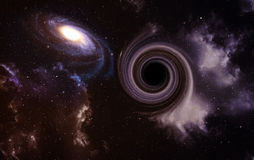 Black hole in space. Royalty Free Stock Photos