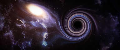 Black hole in space. Stock Photo