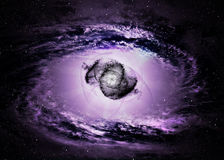 Black hole in space Royalty Free Stock Photography