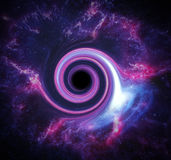 Black hole in space. Royalty Free Stock Photography