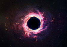 Black hole in space Royalty Free Stock Photos