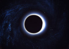 Black hole in space Stock Images