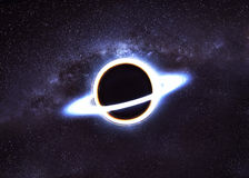 Black hole in space Royalty Free Stock Images