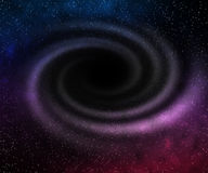 Black Hole in Space Violet Royalty Free Stock Photography