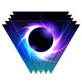 Black hole with starry vortex Stock Image