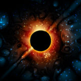 Black Hole Supermassive Gravity Universe Space Royalty Free Stock Photography