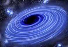 Black hole vortex Stock Photo
