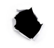 Black hole on a white paper Stock Image