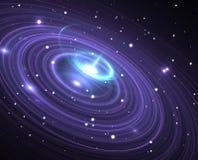 Black hole. Or wormhole, illustration Royalty Free Stock Photo