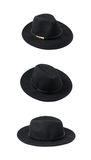 Black homburg hat isolated Royalty Free Stock Photography