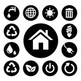 Black Home Icons Sets Stock Photography