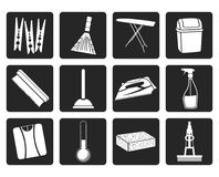 Free Black Home Objects And Tools Icons Royalty Free Stock Photos - 110141288