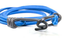 Black hook with Elastic rope Stock Image