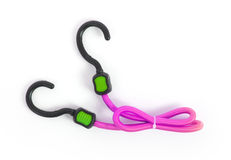 Black hook with elastic rope Stock Photo