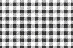 Black horizontal Gingham pattern. Texture from rhombus/squares for - plaid, tablecloths, clothes, shirts, dresses, paper, bedding royalty free illustration