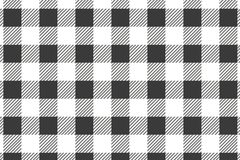 Black horizontal Gingham pattern. Texture from rhombus/squares for - plaid, tablecloths, clothes, shirts, dresses, paper, bedding vector illustration