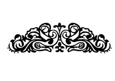 Black horizontal ornamental strip Royalty Free Stock Image