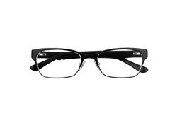 Black horn rimmed glasses Royalty Free Stock Photos