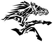 Black horse. Painting on isolated white background vector illustration
