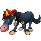 Black Horse and Rap royalty free illustration