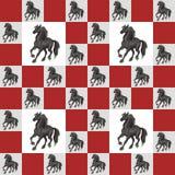 The black horse royalty free illustration