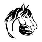 Black horse sign. Royalty Free Stock Photos
