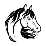 Black horse sign. Royalty Free Stock Images