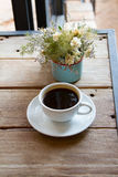 Black hot coffee, Delicious Coffee Drink Royalty Free Stock Photos