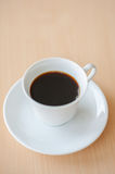 Black Hot Coffee on table. Brown color Stock Photo