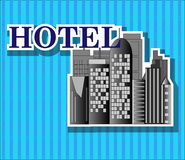 Black hotel buildings Stock Photography