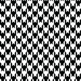 Black houndstooth pattern vector. Classical checkered textile design. Stock Photo