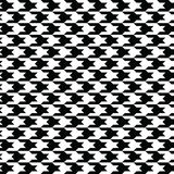 Black houndstooth pattern vector. Classical checkered textile design. Stock Photography