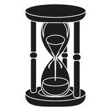Black hourglass. On white background Stock Images