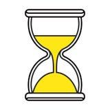Black hourglass icon vector illustration