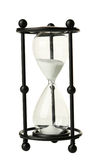Black hourglass isolated on a white Royalty Free Stock Photos
