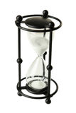 Black hourglass isolated on a white Royalty Free Stock Image