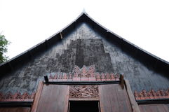 Black house in Chiangrai Royalty Free Stock Photos