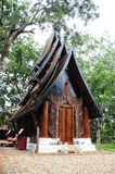 Black house in Chiangrai Stock Images